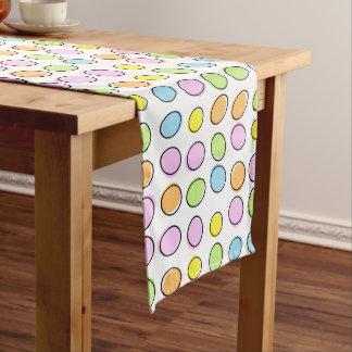 Elegant Colorful Pastel Retro Ovals Pattern Long Table Runner