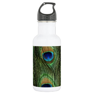 Elegant Colorful Peacock Feathers Custom Photo Des 532 Ml Water Bottle