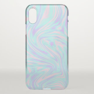 elegant colorful pink blue purple white marble iPhone x case