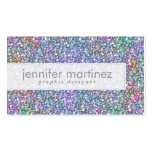 Elegant Colorful Purple Tint Glitter & Sparkles Business Card Templates