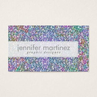 Elegant Colorful Purple Tint Glitter & Sparkles Business Card