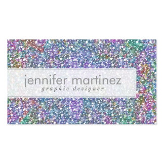 Elegant Colorful Purple Tint Glitter & Sparkles Pack Of Standard Business Cards
