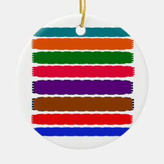 Elegant Colorful Rainbow Slices Pattern Christmas Ornament
