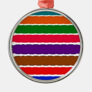 Elegant Colorful Rainbow Slices Pattern Christmas Ornament