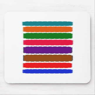Elegant Colorful Rainbow Slices Pattern Mouse Pad
