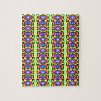 Elegant colorful ribbon pattern puzzles