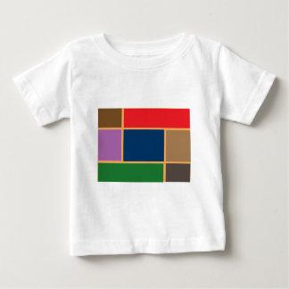 Elegant Colour Collage n Gold line Border T Shirts