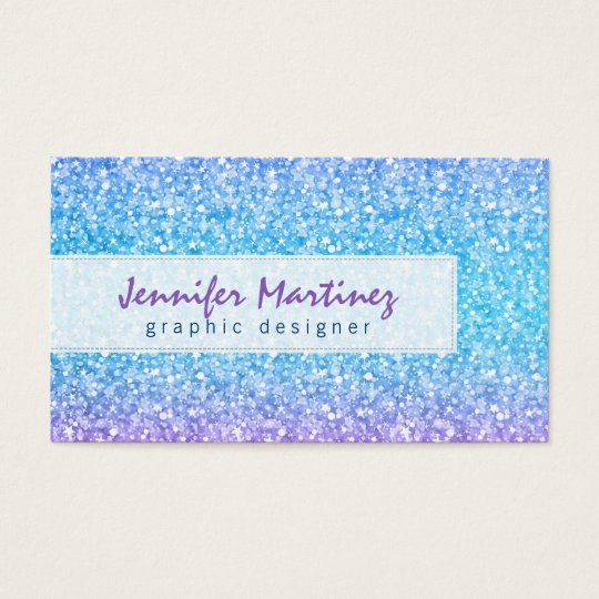Elegant Colourful Glitter & Sparkles Pattern Business Card