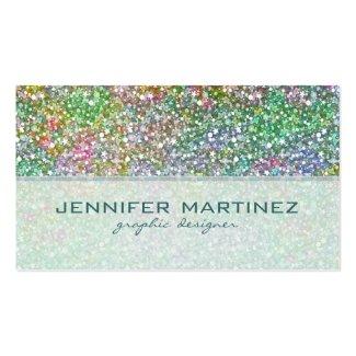 Elegant Colourful Glitter Texture-Green Overtones