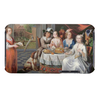 Elegant company dining in an pillared hall (panel) Case-Mate iPod touch case