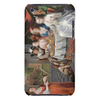 Elegant company dining in an pillared hall (panel) iPod touch case