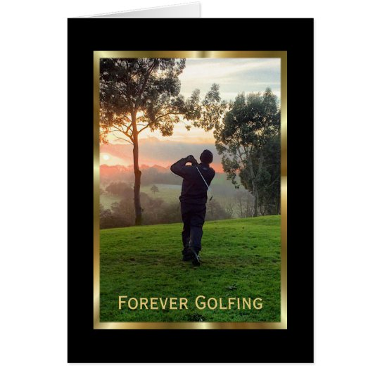 Elegant Condolences Card for a Golfer