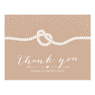 Elegant Confetti Dots Tying the Knot Thank You Postcard