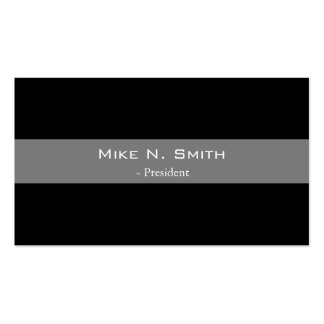 Elegant, cool black and grey  business cards. pack of standard business cards