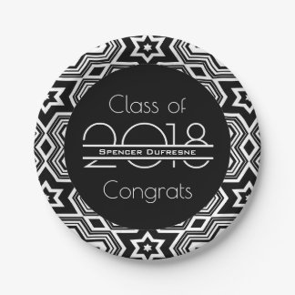 Elegant & Cool Graduation Paper Plate