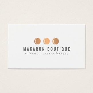 Elegant Copper Macaron Trio Logo on White