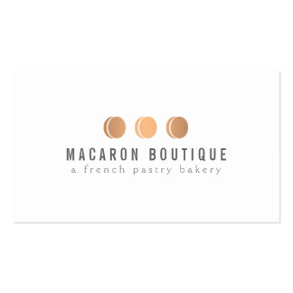 Elegant Copper Macaron Trio Logo on White Pack Of Standard Business Cards