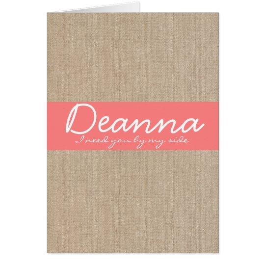 Elegant Coral Blossom Bridesmaid Request Card