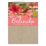 Elegant Coral Flower Bridesmaid Request Card