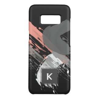 elegant coral pink white and grey brushstrokes Case-Mate samsung galaxy s8 case