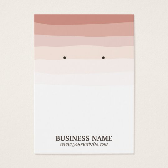 Elegant Coral Shades Earring Holder Business Card