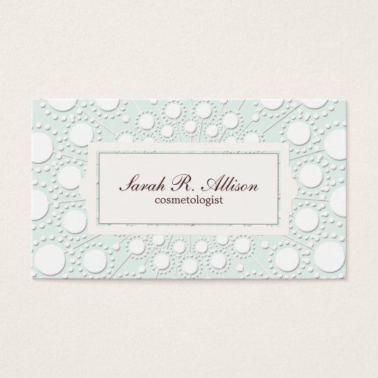 Elegant Cosmetologist Embossed Look Business Card