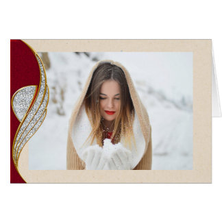 Elegant Country Photo Christmas Card