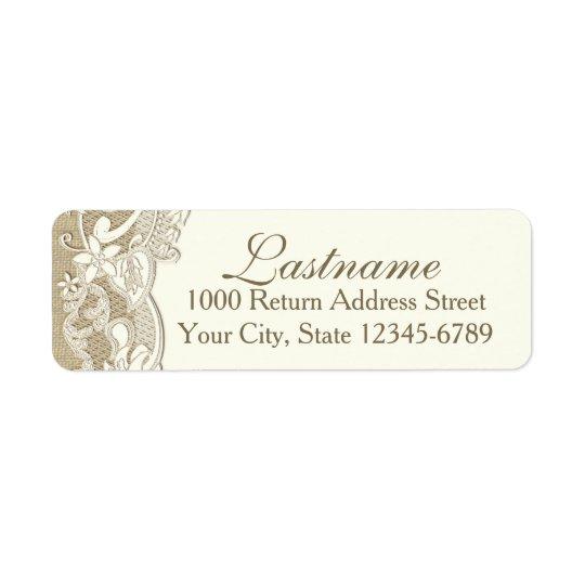 Elegant Country Rustic Floral Design Return Address Label