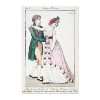 Elegant Couple Dancing the Waltz Stretched Canvas Print