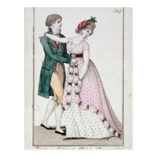 Elegant Couple Dancing the Waltz Post Cards