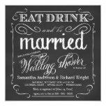 Elegant Couple's Wedding Shower Invitations