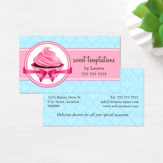 Elegant Couture Cupcake Bakery Business Card