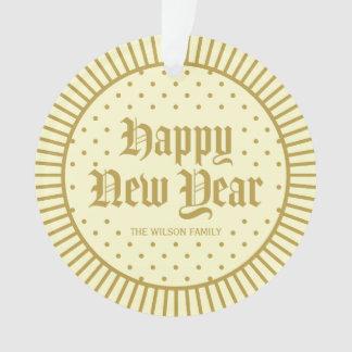 Elegant Cream Classic Decorative Happy New Year