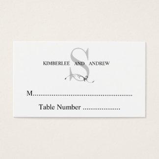 Elegant Cream Monogram Wedding Seating Cards