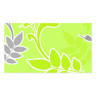 Elegant Creations Lime Flora (lt lime) Business Card Templates