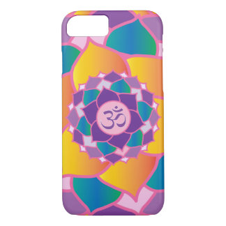 Elegant Crown Chakra Yoga Meditation Enthusiast's iPhone 8/7 Case