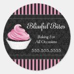 Elegant Cupcake Bakery Stickers
