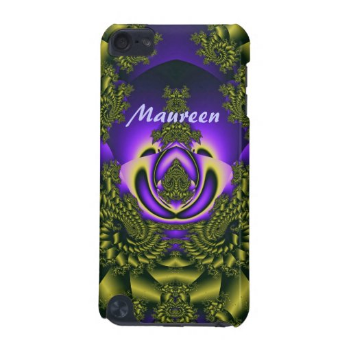 Elegant curly iPod touch case with Name