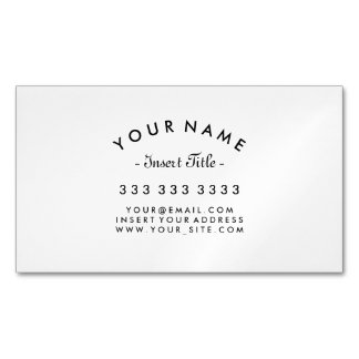 Elegant Curved Text Professional Magnetic Business Card