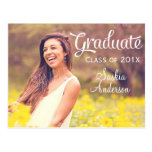 Elegant Custom Photo Graduation Postcard