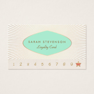 Elegant Customer Loyalty Punch Card