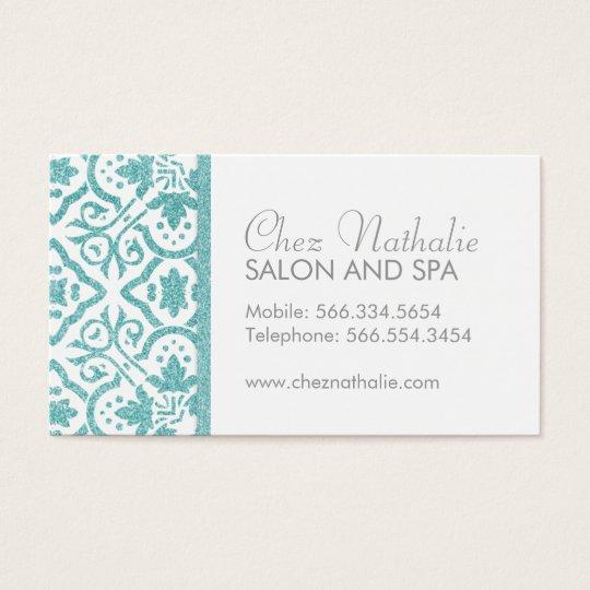 Elegant Customisable Glitter Business Cards