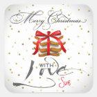 Elegant Customised Christmas Cookie Gift Stickers