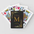 Elegant Customised Monogrammed Playing Cards