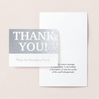 "Elegant, Customizable & Basic ""THANK YOU!"" Card"