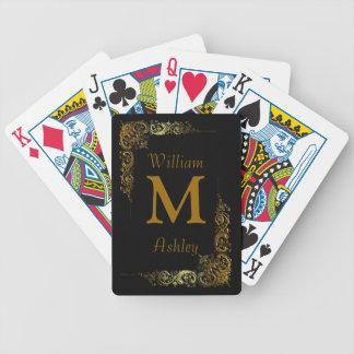 Elegant Customized Monogrammed Playing Cards