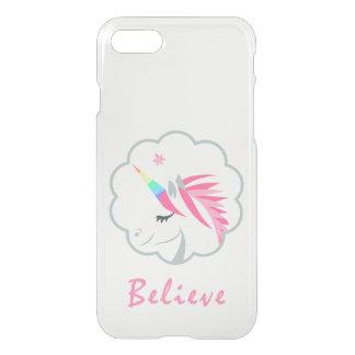 elegant cute believe in unicorns emoji iPhone 8/7 case