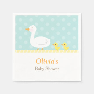 Elegant Cute Duck Twins Baby Shower Party Supplies Disposable Napkin