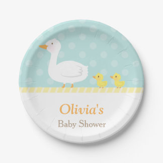 Elegant Cute Duck Twins Baby Shower Party Supplies Paper Plate
