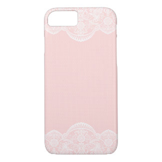 Elegant Cute Pink Floral Lace Girly iPhone 7 case
